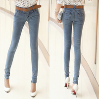 Free Shipping! New Spring/Autumn Women Jeans Small Feet Skinny Slim Casual Denim Pencil Pants #889