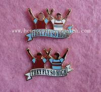Customized cut out zinc alloy badge, high polish, character badge