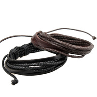 Hot sale  new style leather bracelet free shipping by china post ail mail