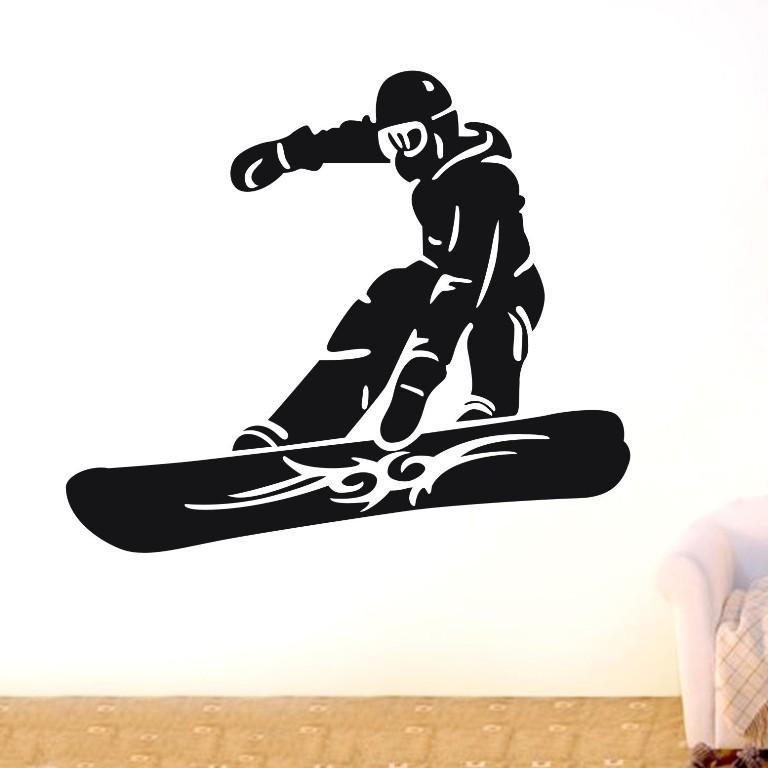 Snowboarder skiing sports Wall Decor Removable Vinyl Home Decal Wall Sticker Art DIY Mural wallpaper mural(China (Mainland))