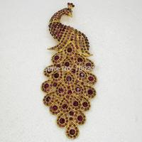 Wholesale 12piece/lot Amethyst Rhinestone Golden Huge Big Peacock Brooch,Fashion Costume Pin Brooch Wedding party Jewelry C762 D