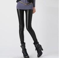 Hot!  2014 New Fall Fashion Leggings Thickened  Elastic Thin Warm Leather Nine PANTS LEGGINGS