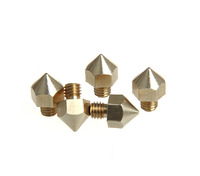 3Pcs 0.2mm + 0.3mm + 0.4mm Brass 3D Printer Extruder Nozzle For Ultimaker Reprap