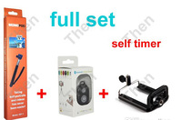3 in 1 Full Set Bluetooth Wireless Remote Shutter Camera Control Self Timer + Monopod + Phone Holder for iOS & Android  100 set