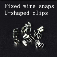 Ear headphones shell wire fixed  Headphone repair parts and materials production  U-shaped iron clasps  Line card bit