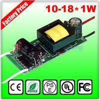 85-265V Input for E27 GU10 E14 10-18*1W Led Driver 12W 15W 18W Lamp Driver Power Supply Lighting Transformers