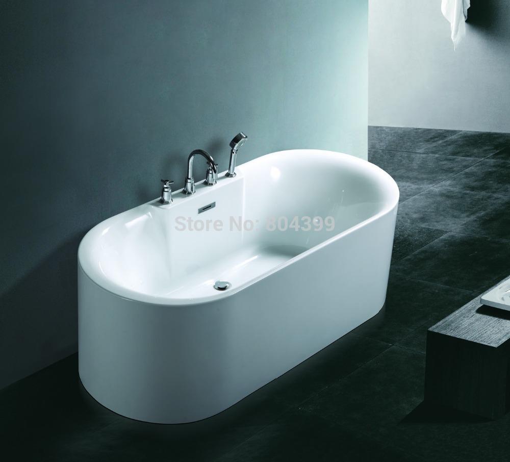 acrylic bathtub deep soaking bath tub air bubble massage bathtub