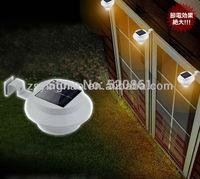 mail order plastic 3LEDS garden solar fence gutter light