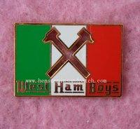 Customized west ham boys badge, hammer badge, imitation hard enamel, high quality