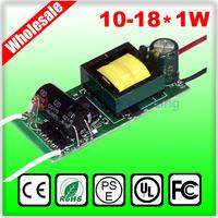 (10-18)X1W LED lamp driver, 12W/13W/14W/15W/16W/17W/18W in common use, 110V/220V lights driver, led power free shipping