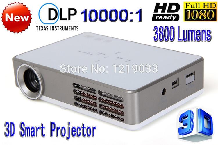 New DLP 3800 Lumens Full HD 1280*800 Home Theater LED Projector HDMI VGA SD USB AV 3D Mini Portable Projector Free shipping(China (Mainland))
