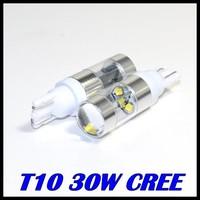 50pcs/lot t10 cree XQB led t10 194 168 w5w cree 30w Car Wedge Backup Rear ReverseTail LED Turn signal Parking Led White