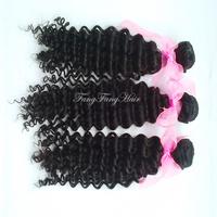 unprocessed Peruvian Virgin hair curly 4pcs lot  peruvian curly hair natural black rosa hair deep wave  free shipping