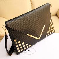 Hot sale new women bag 2014 Personalized V-shaped fashion envelopes shoulder bag