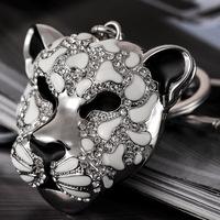 Fashion Fine Car key Ring chain birthday Christmas gift leopard head Panther Rhinestone Luxury