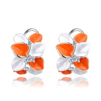 Wholesale Freeshipping Roxi Girl's Gift Classic Genuine Austrian Crystals Fashion  Zircon Flower  Party Earrings for women