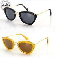 6 Colors Candy Color Cat Eye Sunglasses Glasses 2014 New Vintage Fashion Retro Summer Cool Sunglasses Women Brand Designer