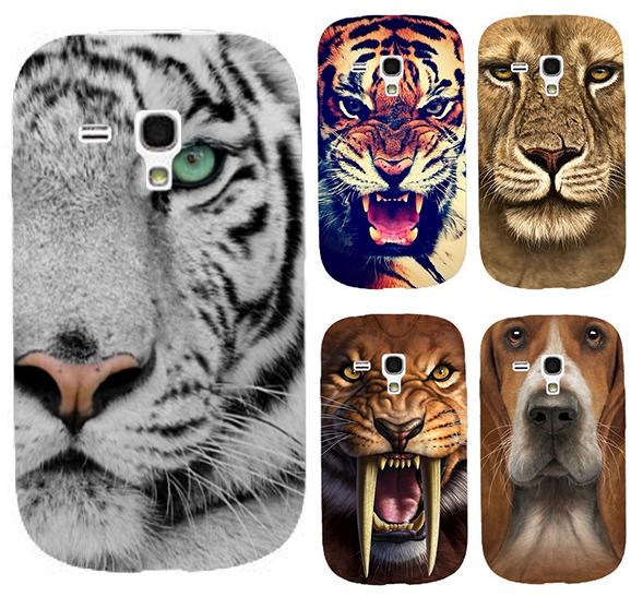 Animal Pattern Lion Tiger Dog Owl custom printed mobile phone case hard Back cover Skin Shell for Samsung galaxy S3 mini I8190(China (Mainland))