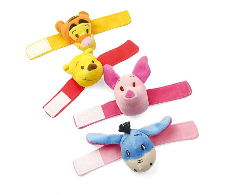 (4 cores relógio chocalhos ) chocalhos relógio de pulso estéreo cinta sino bebê infantil pulso brinquedo(China (Mainland))