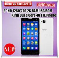 Original huawei honor 3c H30-L02 4G lte phone Kirin 910 Quad Core 2G RAM 16G ROM 5.0 Inch Android Mobile Phone GPS