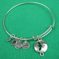 New Arrival Alex and Ani Style Bangles Insect Charm Bracelet & Bangles Free Shipping