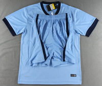 New Arrival 2014 2015 Manchester home blue soccer jerseys designer men's football uniform thailand quality sportwear tracksuit