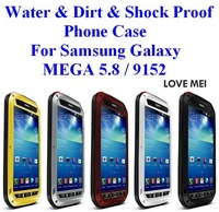 For Samsung Galaxy MEGA 5.8/ 9152 Case Water /Dirt / Shock Proof  Phone Case Corning Gorilla Glass Five Colors  Free Shipping