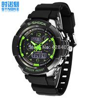 2014 Mens Outdoor PC Double Movement Watch 50M Waterproof Sports Watch Luminous Alarm Clock Date Multifunction PU Strap Watches