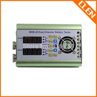 CLEN 1V-20V 0.1A-10A Dual Channel Battery Discharger Capacity Resistance Tester Accumulator Tester 0-20V