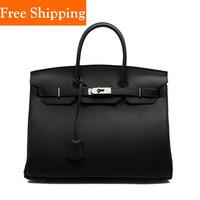 2014 Women Fashion Cowhide Leather Handbag Brand Genuine Bags Hot Celebrity Tote Famous Brands Shoulder Bags Woman Shoulder Bag