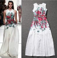 2014 New Arrival Celebrity Dress Women Casual Printed Dress Europe and America Fashion Show Dress Loose Dress Vestidos Freeship
