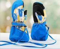 high quality  kids winter professional ski gloves girls boys waterproof  gloves Christmas gift snow gloves for 5-14 yrs children