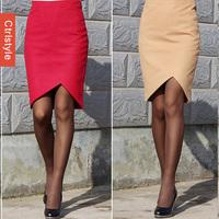 Wholesale/Retail Ctrlstyle OL Skirt Vestidos Fork Front Slim Pencil Shape Saia Women Skirt+Free Shipping Dropship