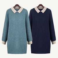 High Quality Plus size Pullover blusas de inverno moleton top clothing sweaters woman autumn 4xl 5xl big size knitted Dresses