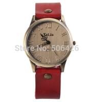 1pcs retail Fashion Vintage Watch for Women's Dress Watches retro zither PU Strap quartz watch analog wristwatches high quality