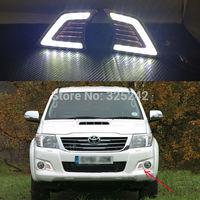 Excellent Quality Ultra-bright illumination Led Daytime Running Light For Toyota Hilux Vigo 2011 facelift DRL led light