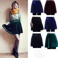 014 Fashion Women Skirts Autumn and Winter High Waist Short Skater Pleated Skirt