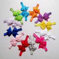 2014 new arrivel fashion bow flower baby girl headband kids hair accessoriy hair band 12pcs/lot Free Shipping Christmas kid gift