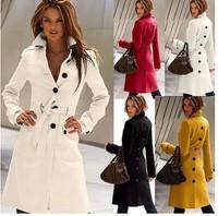 lb8008 2014 women british style autumn winter windbreaker manteau femme cardigans desigu    jacke casual  trench coat free