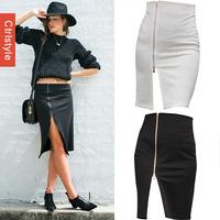 Wholesale/Retail Ctrlstyle Stylish Zipper Fork Saia OL High Waist Skirt Women Pencil Skirt+Free Shipping Dropship