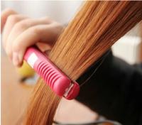 Free shipping mini hair straightener hair stick straight hair curlers volume dual ceramic electric splint straight clip
