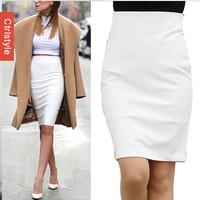 Wholesale/Retail Ctrlstyle High Waist Skirt OL Work Saia Slim Solid Color Women Pencil Skirt+Free Shipping Dropship