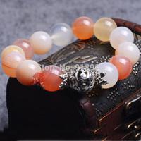 D642 Man Woman Fashion Tibet Jewelry National Agate Jade Buddha Lucky Energy Healthy Power Bracelets
