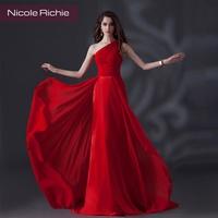 2014 silk chiffon dinner party evening dress red long design