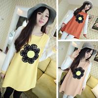 Women's long sleeve dress child autumn clothes long sentiment marca dragon color dress skirt