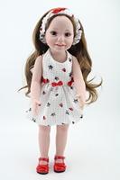 Cheap 45 CM /18''  Full Vinyl American Girl Dolls Brown Eyes Baby Alive Toys Lifelike Hobbies Handmade Soft Girl's Gift