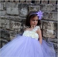 2014 Retail New Single Shoulder Strap 2T-8Y Baby Girl Clothings,Flower Girl Wedding Dress,Handmade Kids TUTU Party Costumes