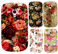 2014 Colorful Brilliant Rose Peony Flowers Background phone case hard Back cover Skin Shell for Samsung galaxy S3 mini i8190