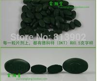 260g/bag Green natural Spirulina 500pills enhance immunity anti-oxidation reducing body fat anemia Health food