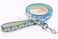 Wholesale 10pcs/lot Sparkly flower pattern Pet Leashes PU Leather Pet Dog leads (S/M)